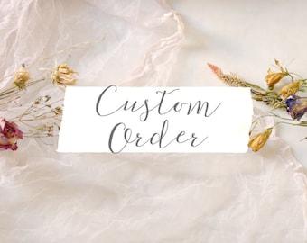 Custom order for Rebecca Schlafer