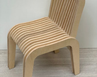 Plywood Skeleton Folding Chair, Stool, Seat, Up cycled