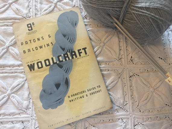Vintage Patons Baldwins Woolcraft 13th Edition A Guide To