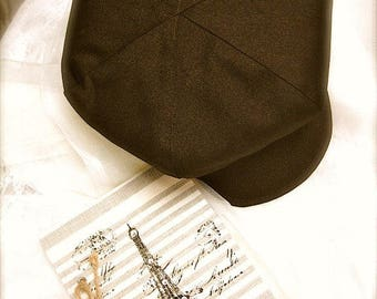 Chocolate brown newsboy hat, brown beret  hat for boys, Cocoa Brown Hat