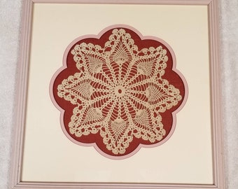 Vintage Crocheted Doily Wall Art