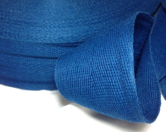 Cotton Twill Tape Binding 2 inches wide 5 yards long Navy Blue