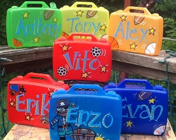 Small activity case, large  activity case, birthday cases, character cases, birthday favor cases, birthday favors, boys sport cases,