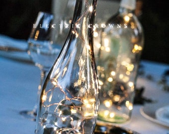 Wine bottle Lights, Bottle Lights, Table Decor, Wine Decor, Wedding Table, Fairy Lights for Wine Bottles, Wine Gift, Battery in Cork! L