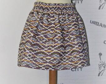 Retro skirt elastic waist short ball