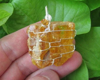 Wire wrapped crystal etsy quick view amber wire wrapped crystal pendant aloadofball Gallery
