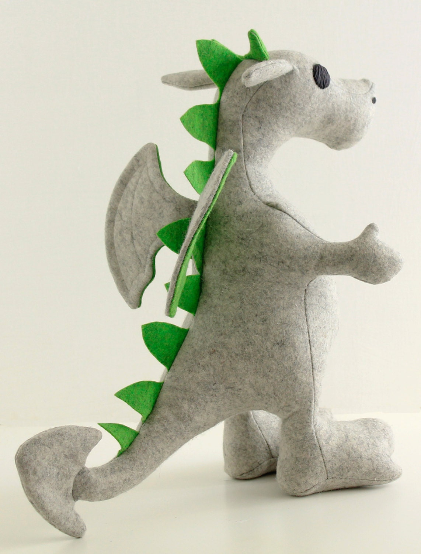 Felt animal patterns bundle, step-by-step sewing tutorials, dragon ...