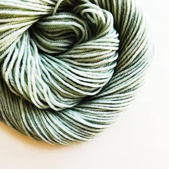 VERDIGRIS hand dyed yarn mini skein