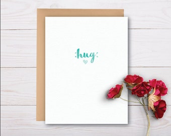 Sending you a hug / sympathy card, grief card, bereavement card, thinking of you card, supportive card, thinking of you, sorry for your loss
