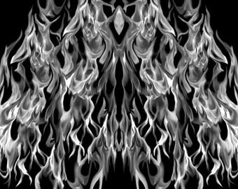 Gray Fire Hood Wrap Wraps Sticker Vinyl Decal Graphic