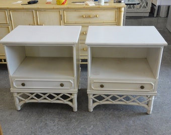 Pair of Ficks Reed Nightstands
