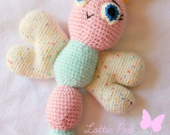 Crochet butterfly - Amigurumi butterfly - butterfly - handmade butterfly - nature - Crochet toy - butterfly stuffed animal