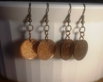 2001 to 2011 Penny Earrings for Birthday or Anniversary