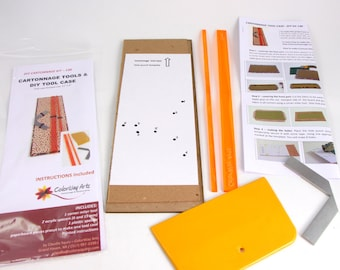 Cartonnage tools and DIY kit for making a tool case