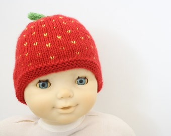 Strawberry babyhat