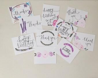 Hand Painted | Watercolor | Variety Greeting Card Set