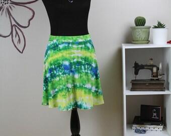 Summer Colorful Skirt • Half Circle Skirt • Yellow, Green, White and Blue Skirt • Summer Skirt • Half Sun Skirt