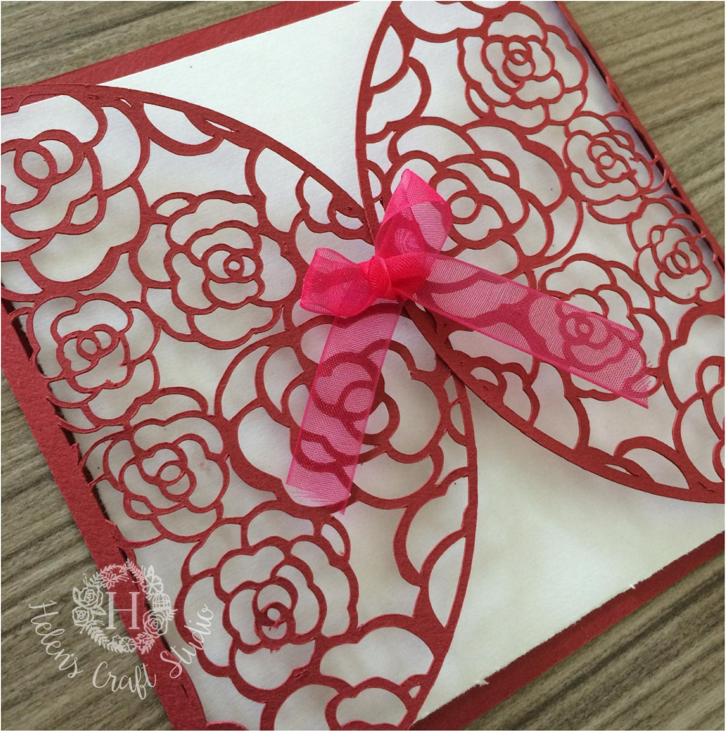 Rose Lace Wedding invitation SVG cutting file / DXF cutting file and ...