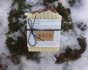 Rose Handcrafted Soap - All Natural Soap, Handmade Soap, Vegan Soap, Cold Process Soap