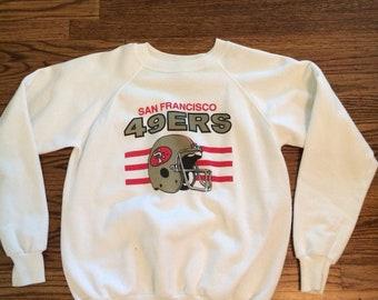 Vintage 1970's/80's men's or women's 49ers pullover sweatshirt. Size S/M