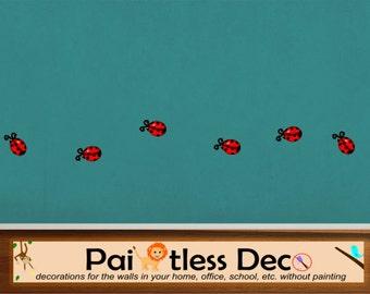 Ladybugs Wall Decal (set of 6)  -HD