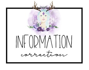 INFORMATION CORRECTION or ADDITIONAL Files