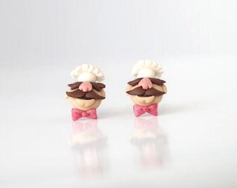 Muppet Show - Swedish Chef  - new handmade lightweight earrings