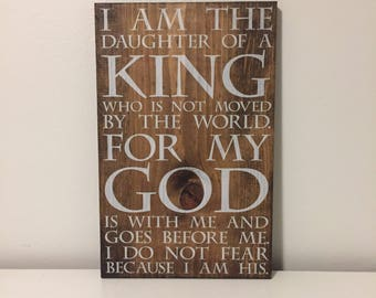 Daughter of the King sign