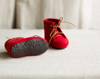Rubber soles for my felted boots and slippers for kids and babies in custom color | Handmade shoes soling