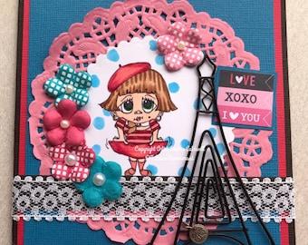 2214 Frenchie Digi Stamp