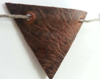 Leather Pennant/ bunting/ leather banner