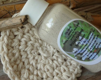 NEW LARGER SIZE! Organic Patchouli Body Powder and Cotton Puff...Talc Free!...Earthy, Woodsy Scent, Safe for All Ages (Kids Over Two)