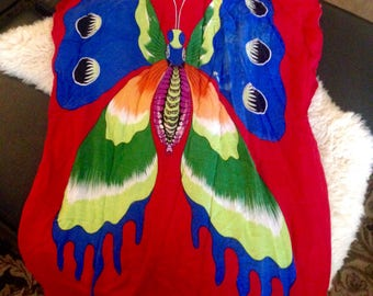 VINTAGE BUTTERFLY TUNIC