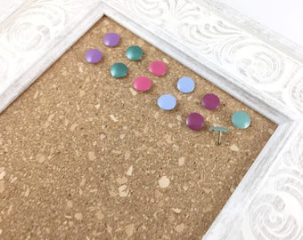 12 Colorful Thumbtacks, Back to School Supplies, Office Supplies, Office Decor, Painted Push Pins, Colored Cork Board, Modern Memo Board