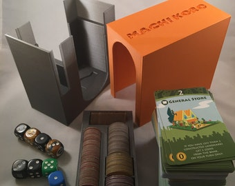 Machi Koro 3D printed game organizer