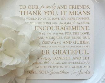Wedding Reception Thank You Card   Wedding Thank You Card   Thank You Card   Thank You - Style 23 - Gold Wedding Collection
