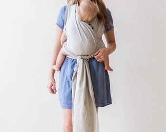 xoxo buckle wrap baby carrier - everyday gray (made with eco2 cotton)