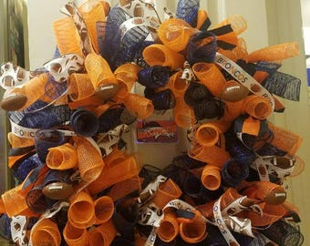 Denver Broncos Wreath (Or any other Football team)