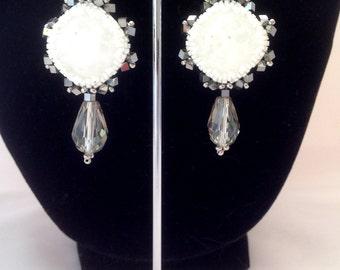 ICE - earrings for woman - fashion earrings - woman's earrings - crystal earrings - handmade earrings - pendant earrings - chic earrings