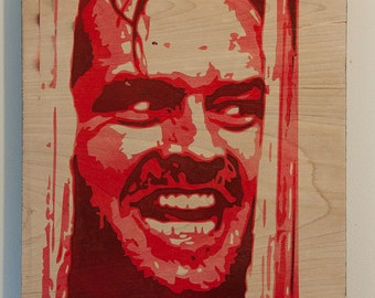 Jack Nicholson The Shining Multilayer Graffiti Stencil Art Painting