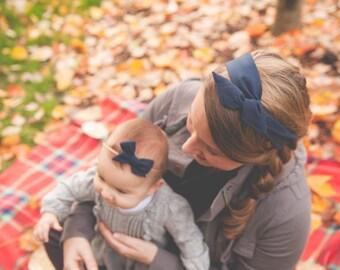 Navy Blue Boho Wire Twist Headband, Boho Headband, Women's Headband, Baby Headband