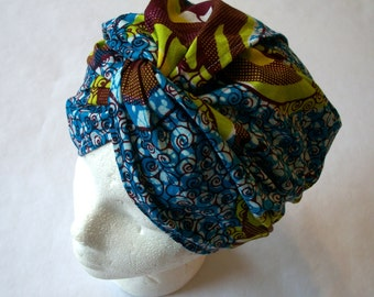 Sewing Pattern: Cotton Print Turban, One Size Fits Most, Easy Sew