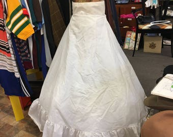 Vintage Bridal Nylon Crinoline Slip ( Undergarment ) Very FULL Gorgeous !!!!