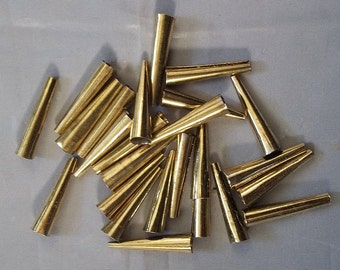 25 Brass Cones - Sewing, Crafts, Jewelry **NEW**