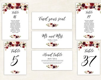SALE OFF Wedding Seating Chart Template Wedding Seating - Wedding invitation templates: seating chart template wedding