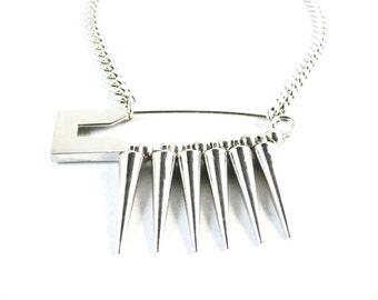 Large Safety Pin Spike Choker