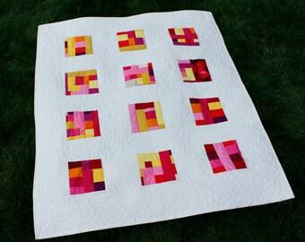 "Wall Quilt, Quilt on Sale, Modern Quilt, Art Quilt, Home Decor, Baby Quilt, Improv, 38"" x 45"""