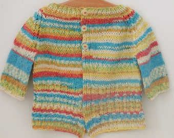 Top Down Knitting Pattern Cardigan Sweater - Anouk a Seamless Cabled Cardigan (6 Sizes for 0 -7 yrs) in Dk yarn