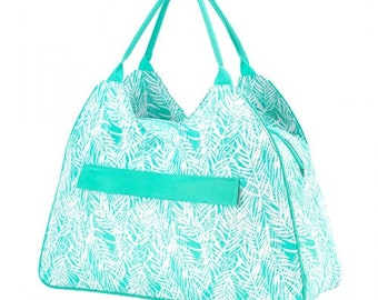 Poolside Palm Beach Bag, Monogrammed