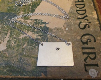 The Christie Necklace - Colorado Love Pendant Necklace or Key Chain